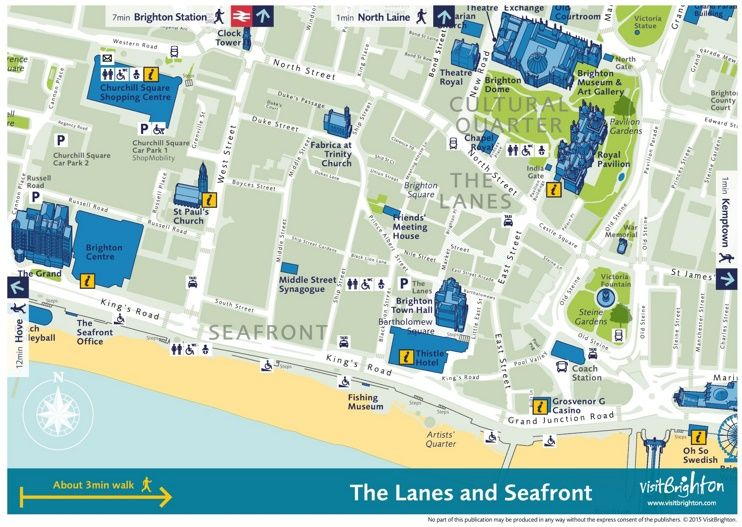 Brighton city center map Maps Pinterest Brighton city and Brighton