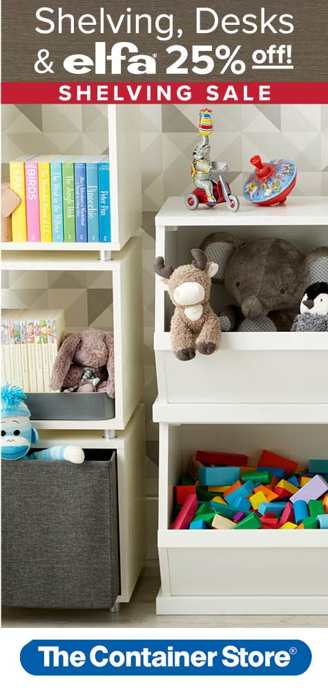 Tame those toys with solutions like our Nantucket Stacking Bins and