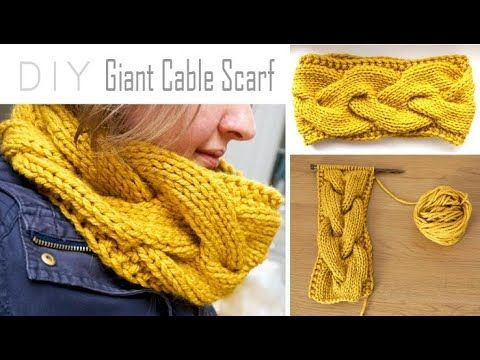 Photo of How to KNIT a Giant CABLE SCARF ! | Step-by-Step Cowl Tutorial | Circle Scarf Knitting Pattern