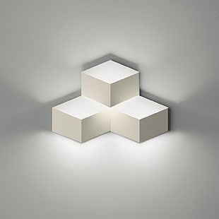 Cheap wall lamps on sale at bargain price buy quality light bulb three lights white finished cube wall lights in designer style aloadofball Image collections