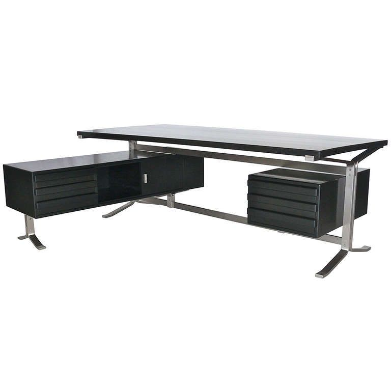 Executive Desk By Gianni Moscatelli .........this model was available with a unique glass top..... very sophisticated ....