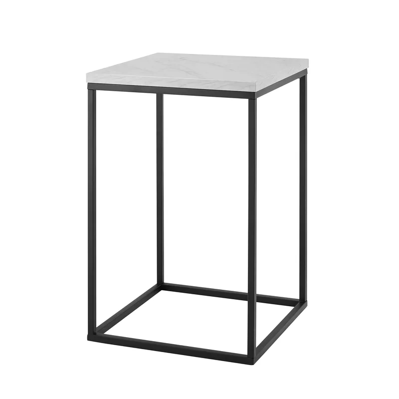 Foundstone Dorsey Frame End Table Reviews Wayfair White Marble Side Table Modern Side Table White Side Tables