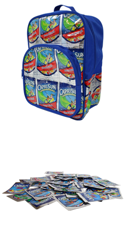 Capri Sun Drink Pouch Backpack Terracycle Chip Bags Pouch Diy Bag