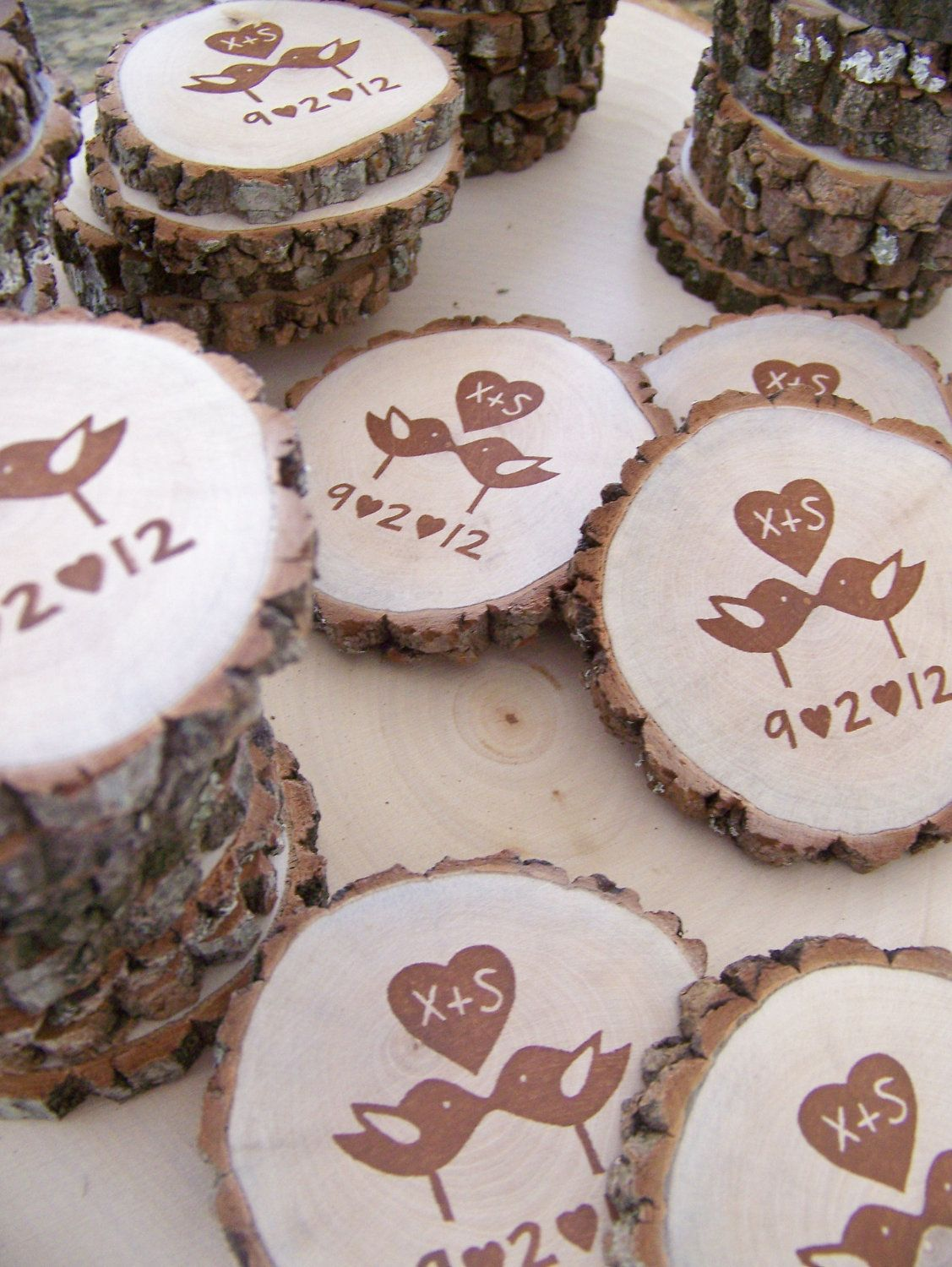 Save The Date Magnets!! Perfect for our theme <3 picking up the slices to do this on the weekend!