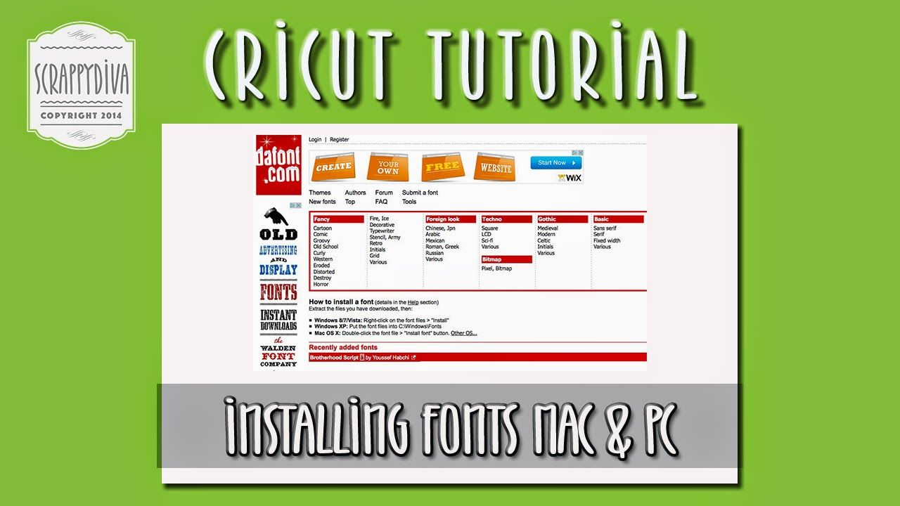 Installing fonts on your Mac or PC