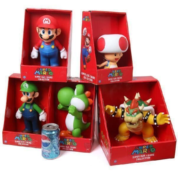 Super Mario Collection Figure Yoshi PVC Action Figure Toy Doll 23cm New in Box Retail Free Shipping