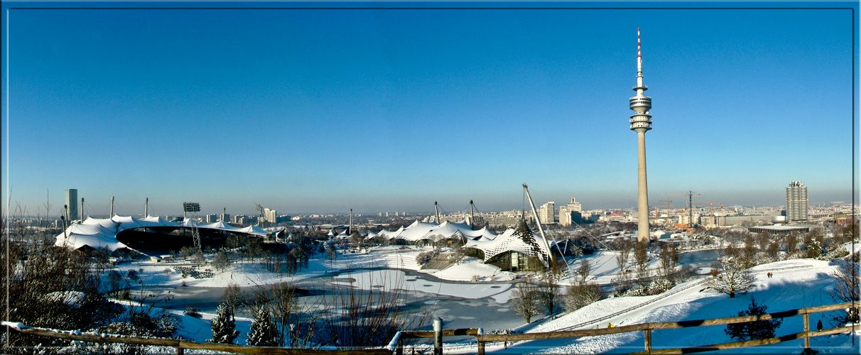 Olympiapark Panorama München.  Repinned by www.mygrowingtraditions.com