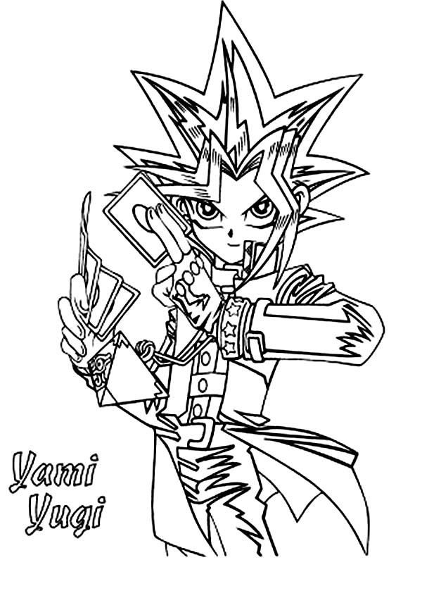 Yami Yugi From Yu Gi Oh Coloring Page Netart Cartoon Coloring Pages Coloring Pages Printable Coloring Pages