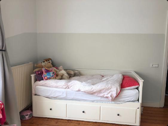 Lambrisering Schilderen Kinderkamer : Of over de gehele slaapkamer een lichter grijze lambrisering