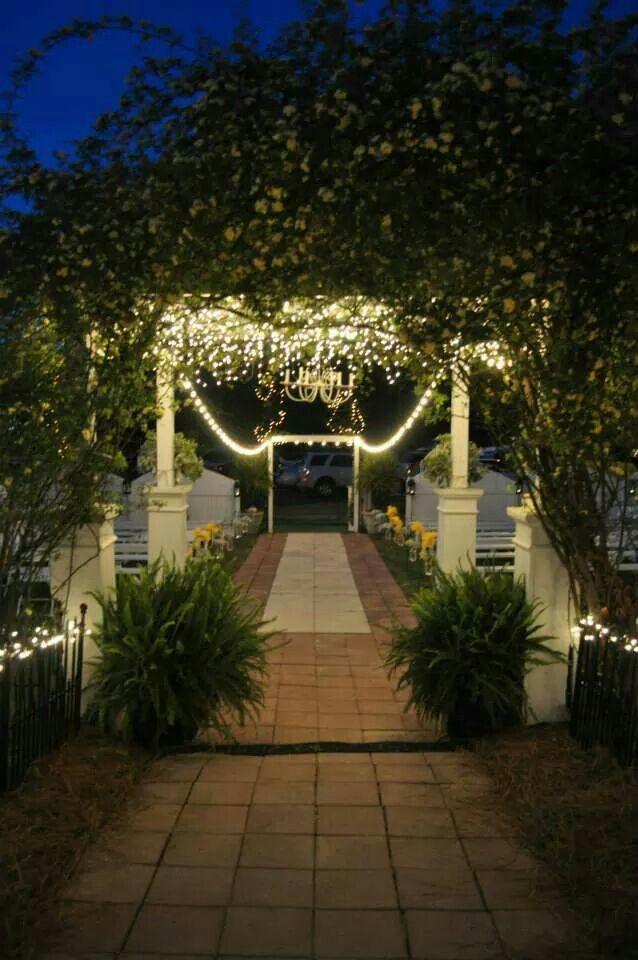 wedding venue lighting at the garden cafe york sc weddings garden