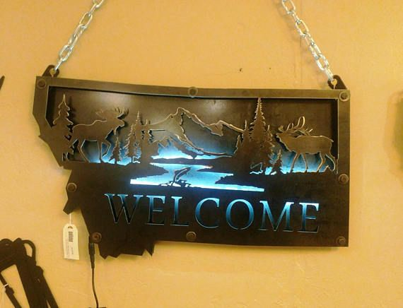 Personalized Metal 3 D State Of Montana Wildlife Etsy In 2020 Metal Tree Wall Art Aztec Wall Art Art Gallery Wall