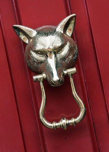 Door Knockers | Large Fox Head Door Knocker : Black Country Metalworks Ltd