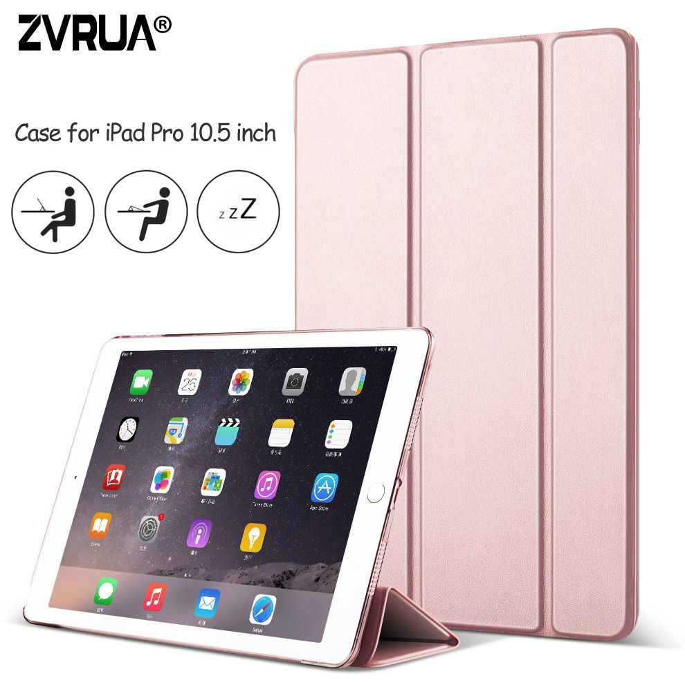 Case For New Ipad Pro 10 5 Inch 2017 Zvrua Yippee Color Ultra Slim Pu Leather Smart Cover Case Magnet Wake Up Sleep For Pro Leather Ipad Case Ipad Pro New Ipad