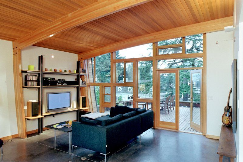beautifully arched western red cedar ceiling! | Interior and ...