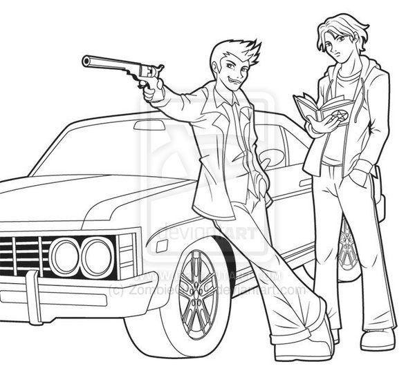 Supernatural By Zombiegirl01 On Deviantart Coloring Pages