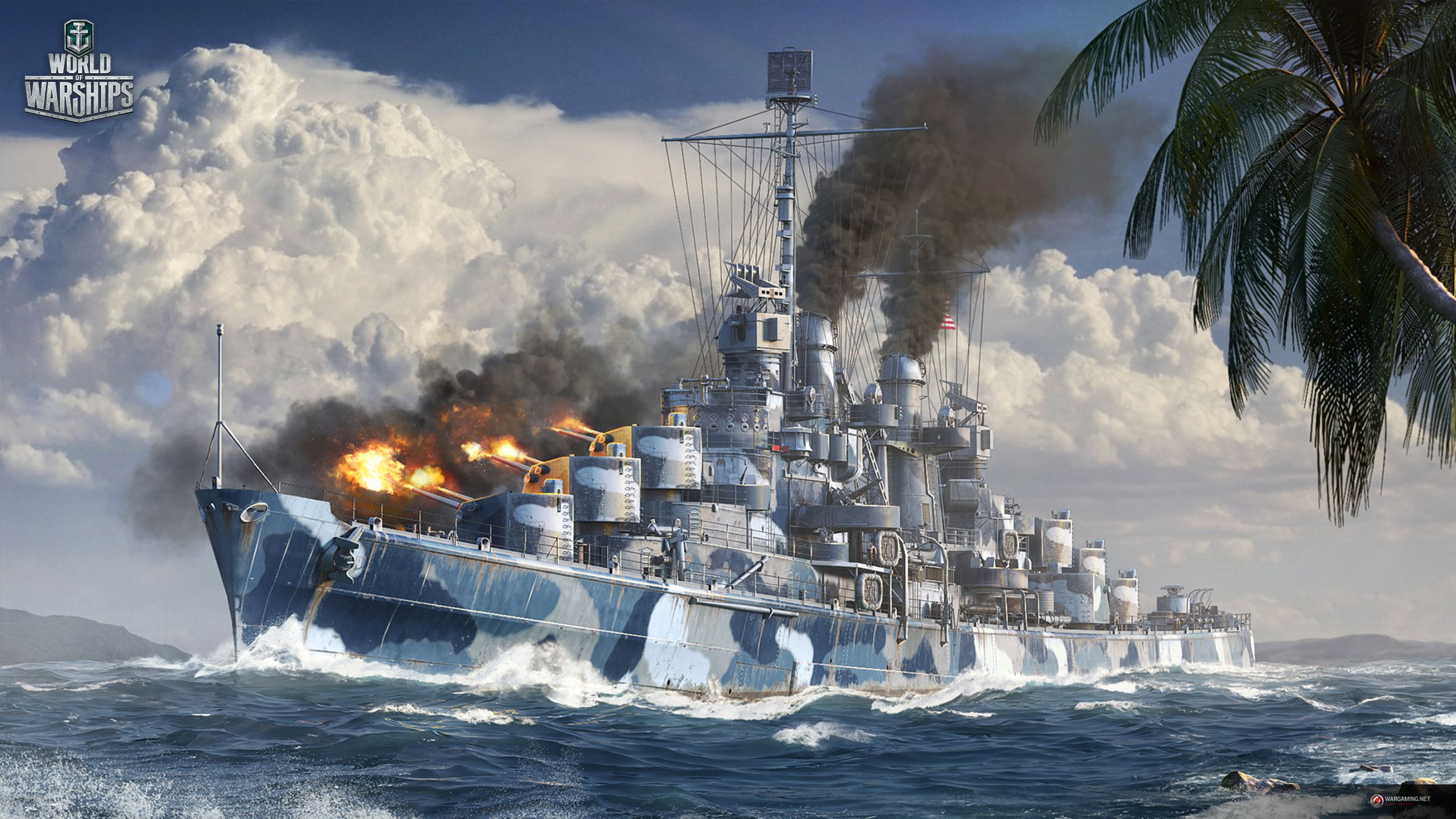 Uss Cruiser Atlanta World Of Warships Wallpaper Model