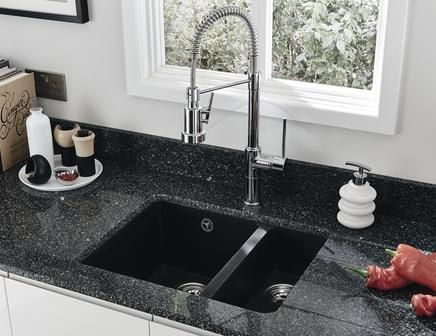 Lovely Lamona Black Granite Composite Inset/undermount 1.5 Bowl Sink