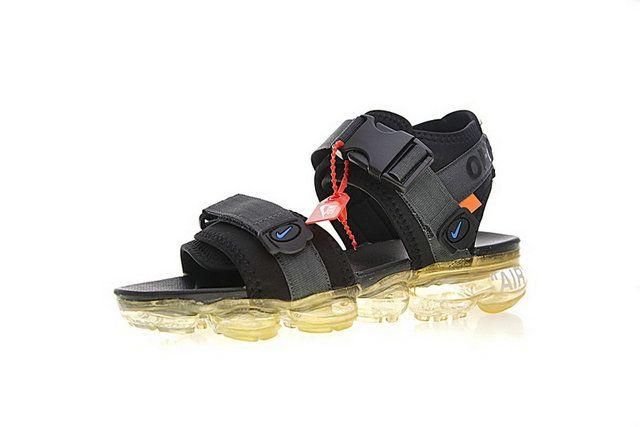 info for 466f7 0658a Off White X Nike Air Vapormax Beach Sandals Footwear Black Royal Shoe