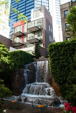 Read a book next to a Midtown waterfall