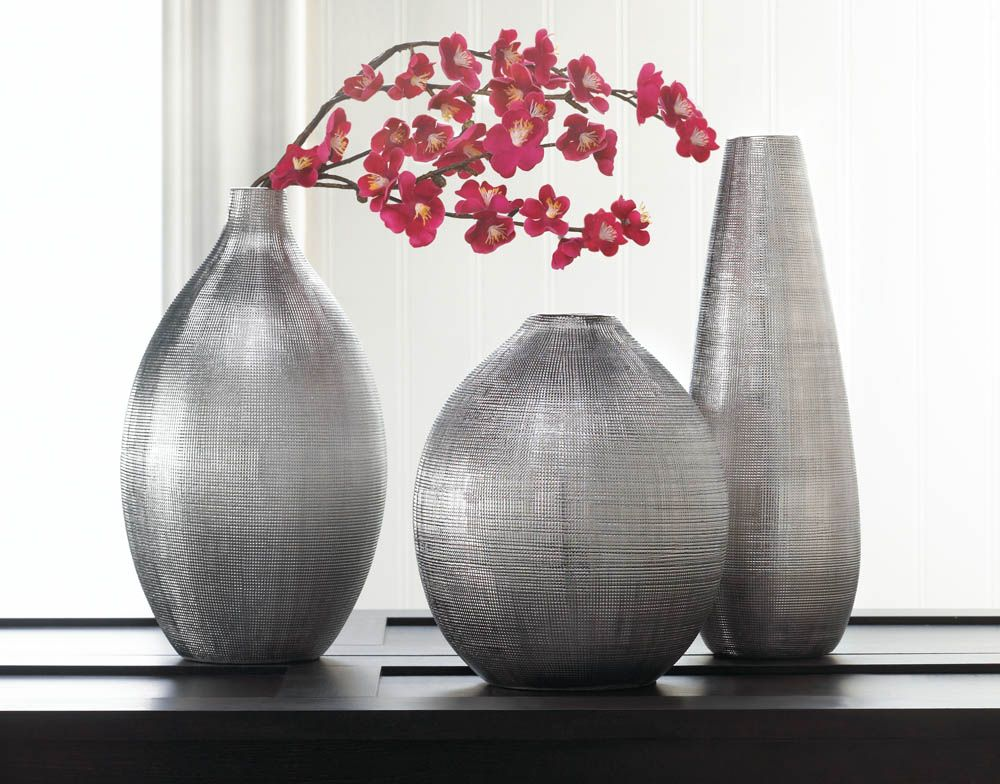 Silver Zeal Vases Wholesale At Koehlerhomedecor Whats New At