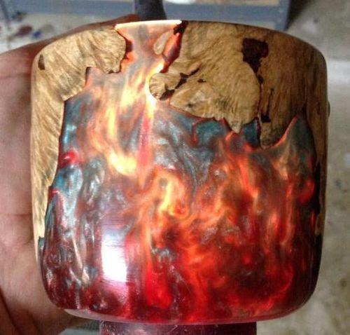 Resin/Wood casting #1: Wood/Resin Casting Tutorial - by TexasBlanks @ LumberJocks.com ~ woodworking community