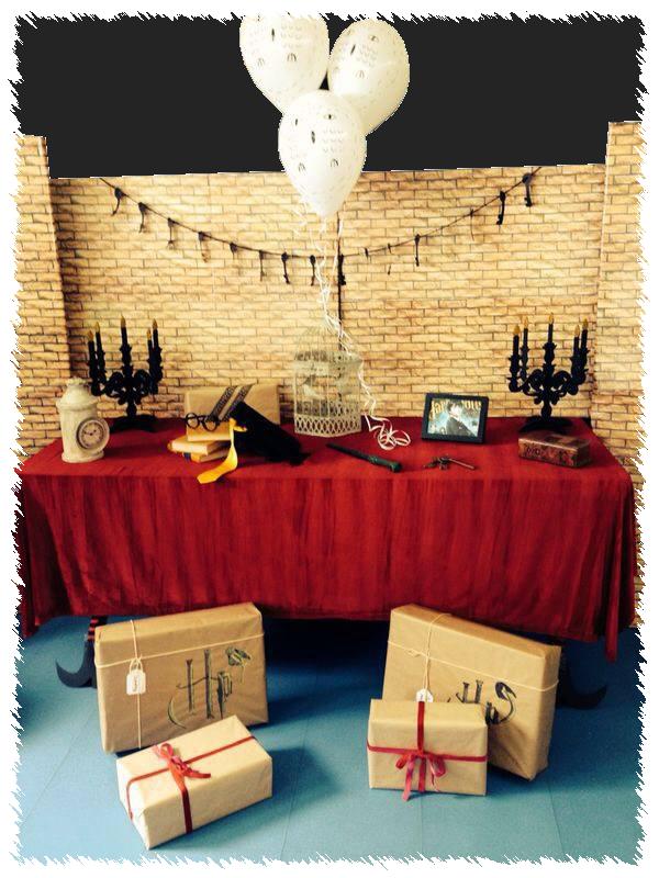 Decoraci n en fiesta de disfraces con tem tica harry for Harry potter cuartos decoracion