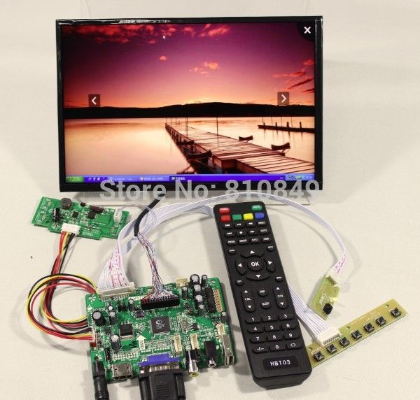HDMI+VGA+AV+Audio+USB FPV Control board+10.1inch B101UAN01/2 1920*1200 IPS LCD screen model lcd for Raspberry Pi #Affiliate