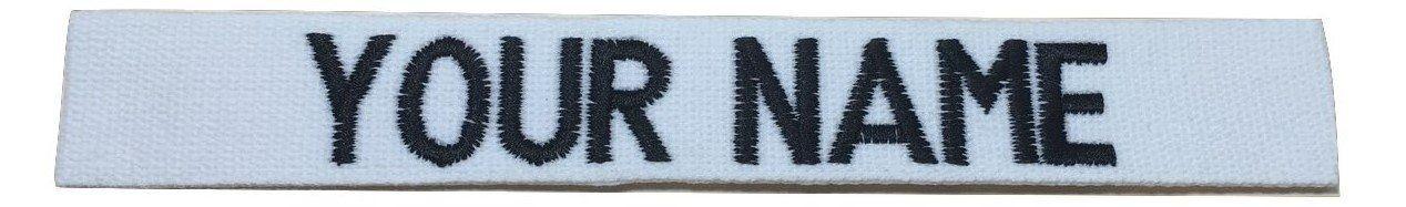 US ARMY USAF USMC POLICE Custom Name Tape with Fastener ACU Multicam OCP Black ABU OD Green Desert CivilAirPatrol With Fastener, Black