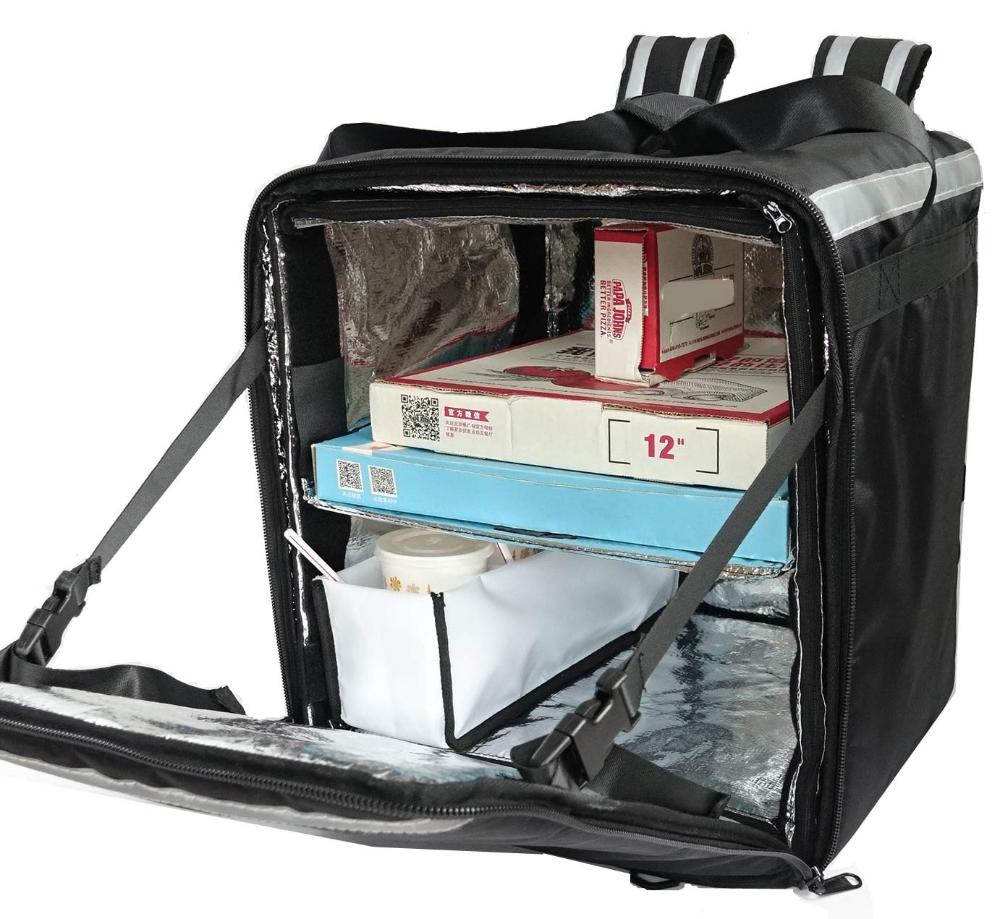 Pk 76f Sac A Dos Isotherme Pour La Livraison De Pizza Aliments 40 6 X 38 1 X 45 7 Cm Avec Separateur Et Porte Gobelet Food Delivery Backpacks Delivery Bag