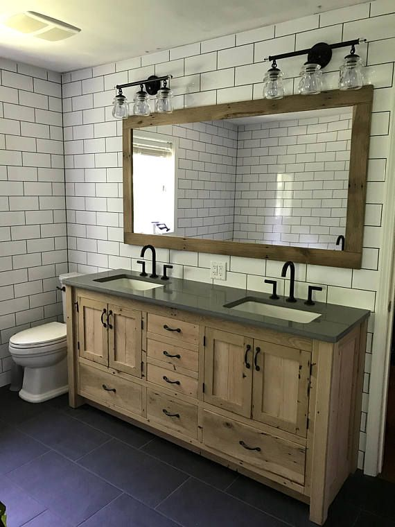 Rustic Bathroom Vanity 72 Dual