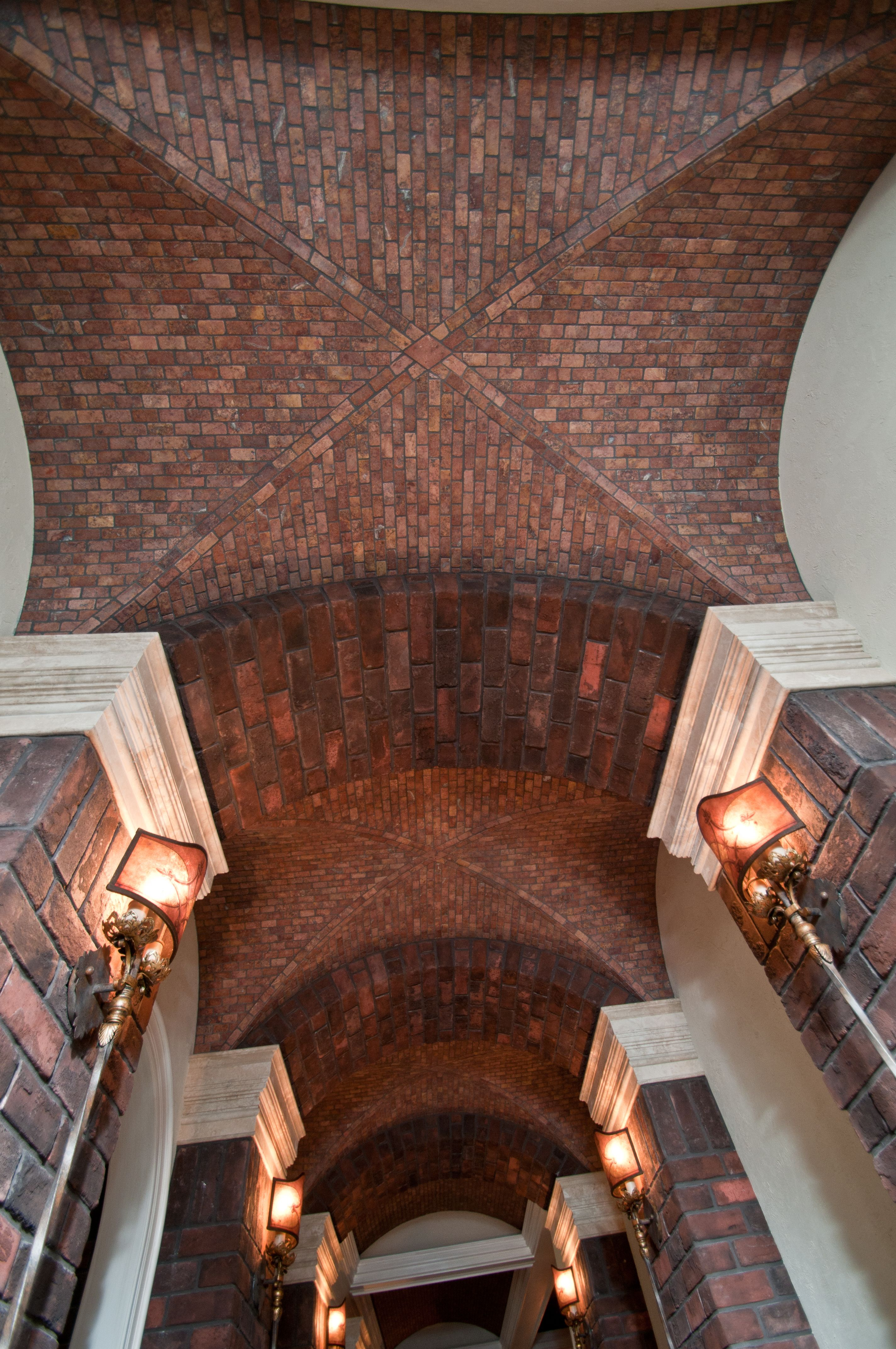 Brick ceiling columns ideal tile of ocean living area brick ceiling columns ideal tile of ocean dailygadgetfo Image collections