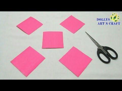 Einfache Diwali Dekoration Idee mit Papier | DIY Papier Lotus | Wohnkultur | - YouTube #diwal...