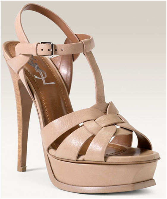 d19a157ee10 YSL Tribute Platform - Nude | Accessories | Shoes, Shoes 2015, Ysl ...