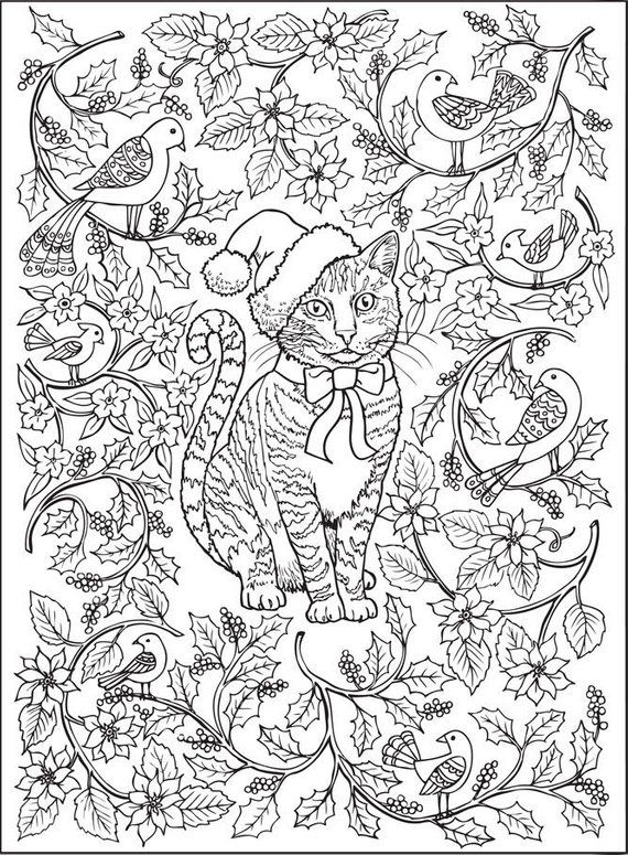 Fantastic Cats 24 Coloring Pages For Adults Instant Pdf Etsy In 2021 Cat Coloring Book Coloring Books Coloring Pages