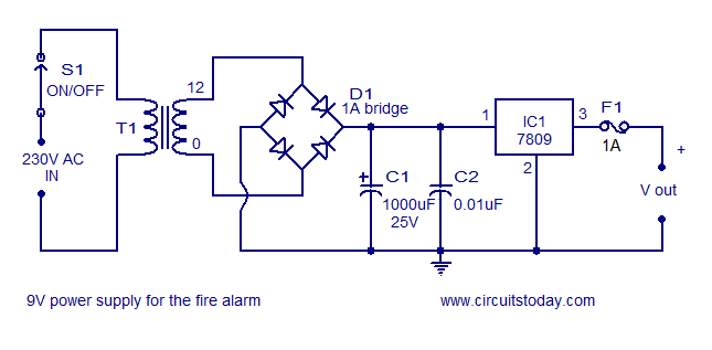 Circuit Diagram Of 9v Dc Power Supply - Data Wiring Diagram