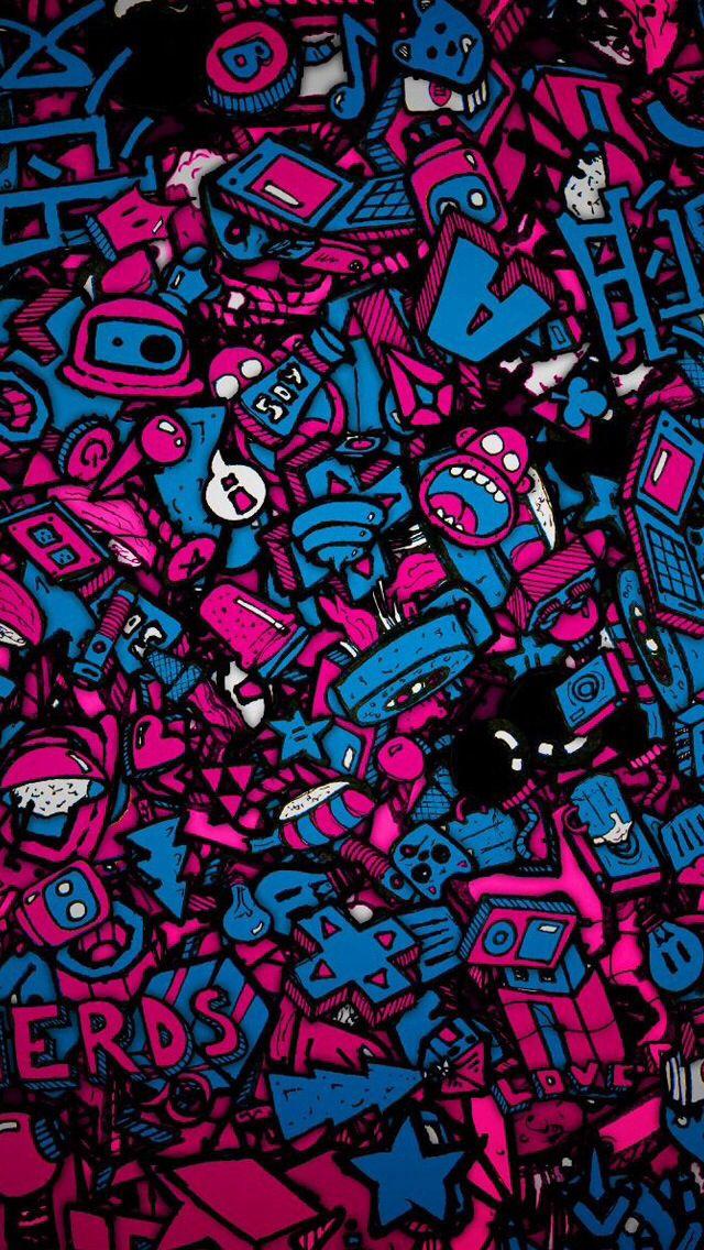 Sticker Bomb | Sticker Bomb in 2019 | Iphone 5s wallpaper, Iphone 5 wallpaper, Iphone wallpaper