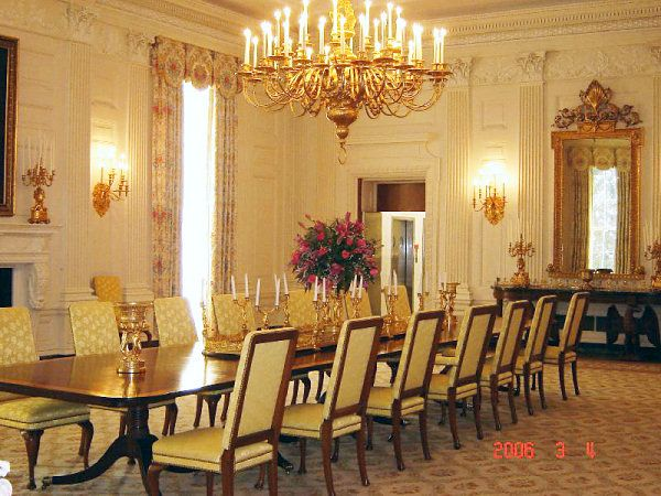 white house dining room | White house State Dining Room in 2019 | Inside the white ...