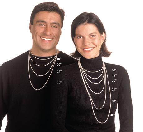 Standard Necklace Sizing Guide - Men & Women   Jewelry ...