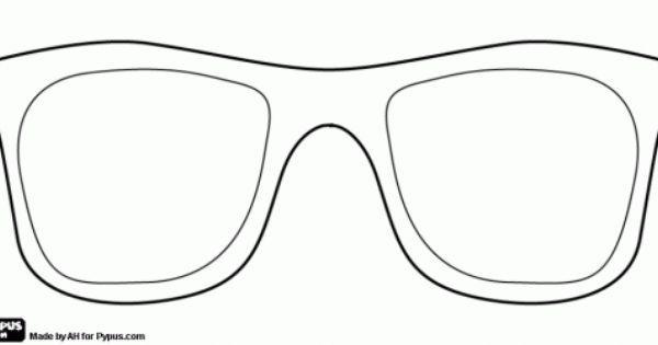 hoofd en zonnebril knutsel zoeken zonnebril