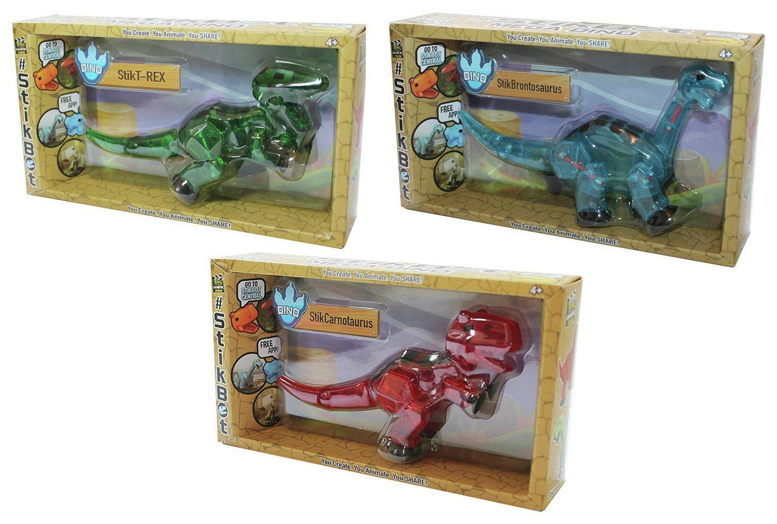 Zing Stikbot Mega Stikdino Dino Brontosaurus Red Green Dinosaur Blue