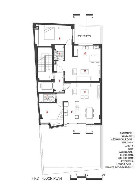 Villa Apartamentos Residenciales,Planta primer nivel