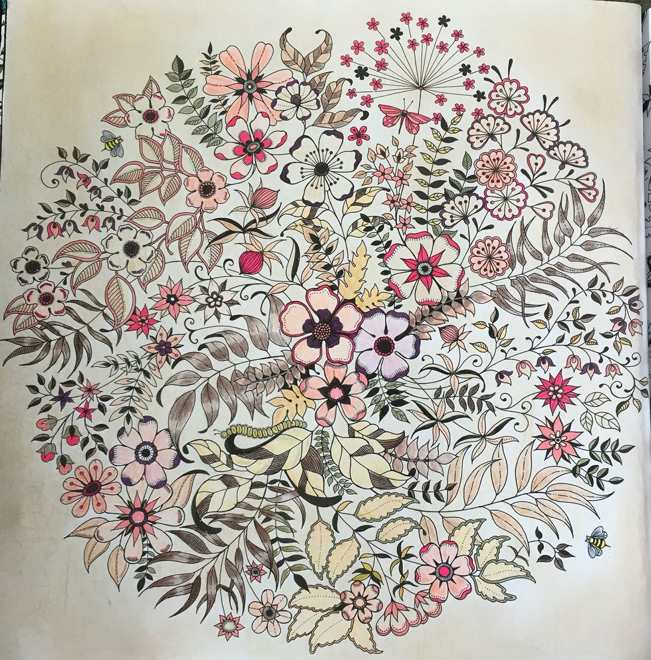 Mandala flores jard n secreto pinterest mandalas for Jardin mandala