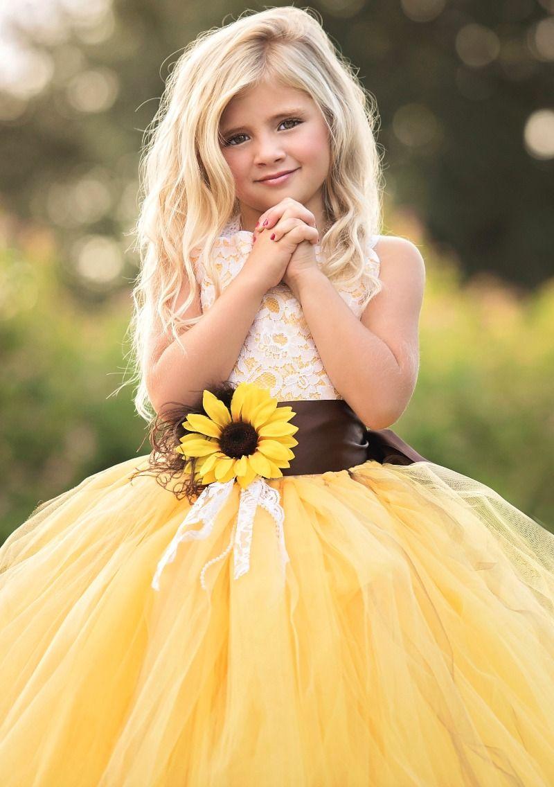 Baby b weddings pinterest sunflower flower flower girl dresses