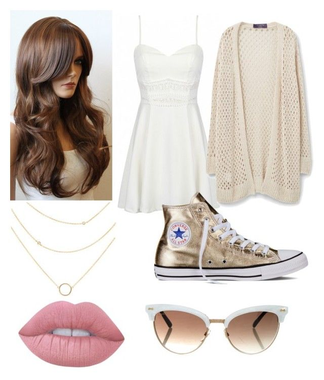 """""""Mariana Guedes"""" by csmiranda21 ❤ liked on Polyvore featuring Converse, Violeta by Mango, Lime Crime and Gucci"""