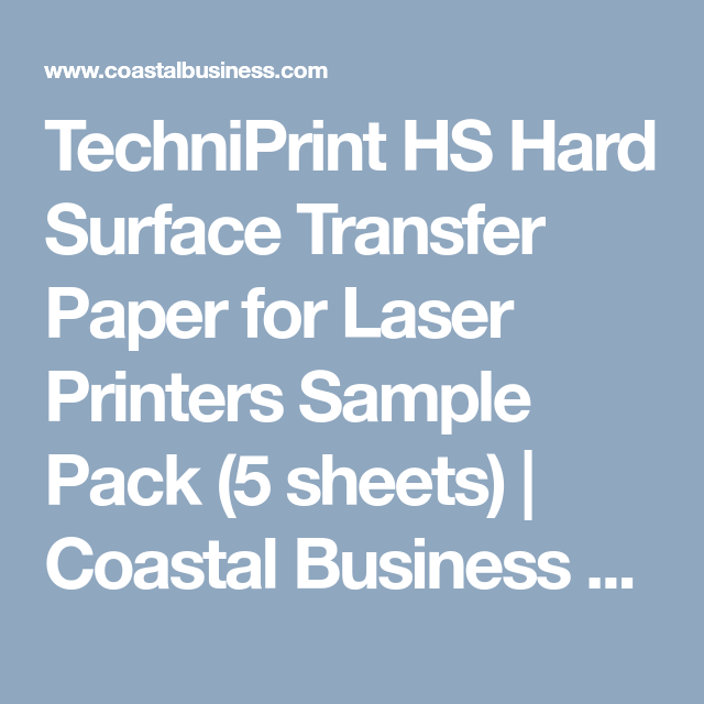 techniprint hs hard surface transfer paper for laser printers sample