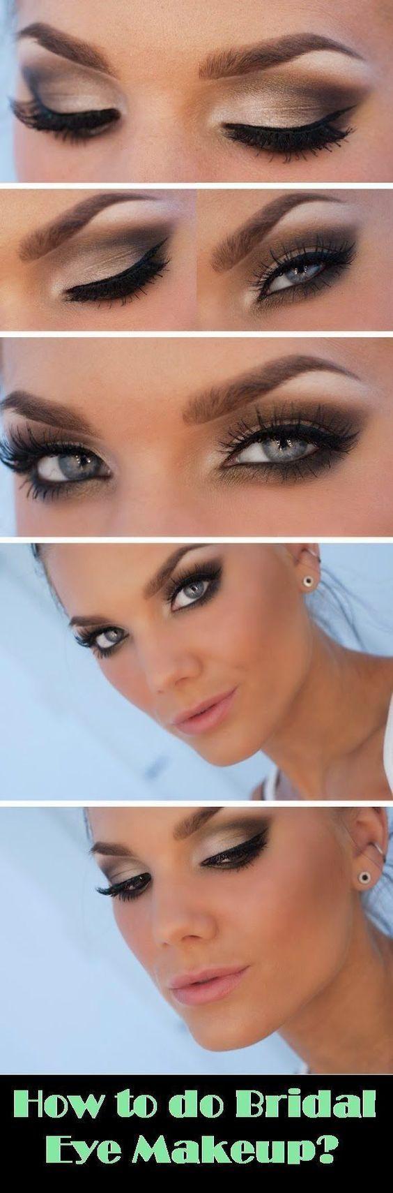 20 Beautiful Makeup Tutorials For Blue Eyes Bridal Eye Makeup Eye