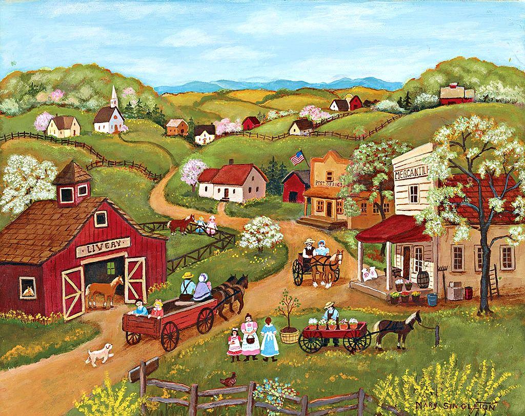 Mary Singleton / LANG Folk Art / April 2016 Americana
