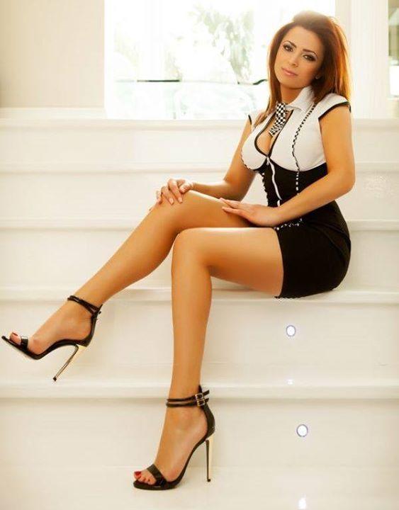 Elegant ladies showing sexy legs