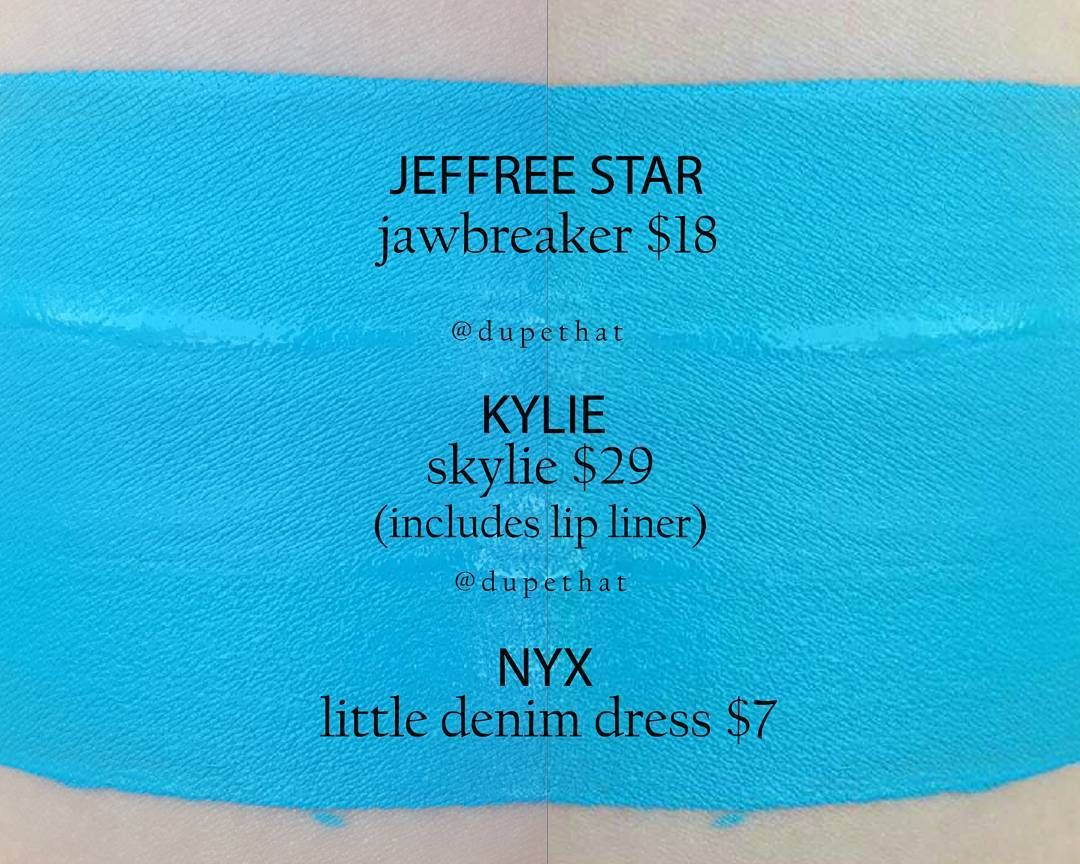 Blue dress lipstick nyx