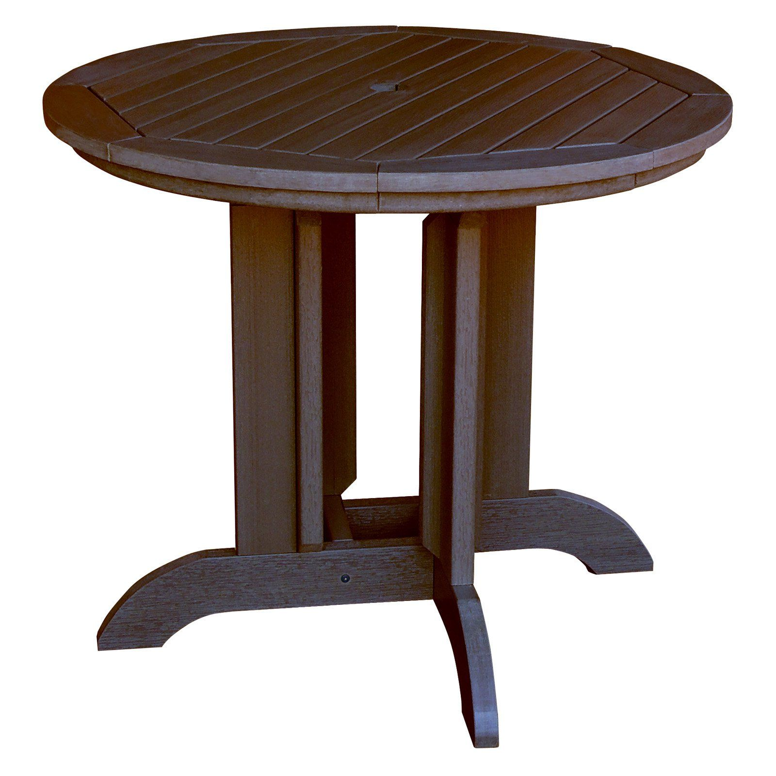Highwood Recycled Plastic 48 In Round Patio Dining Table Dining
